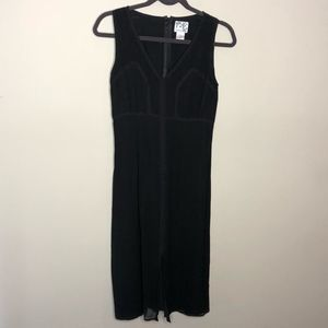 Tabitha Black Silk Dress with Lace Accents  Size S